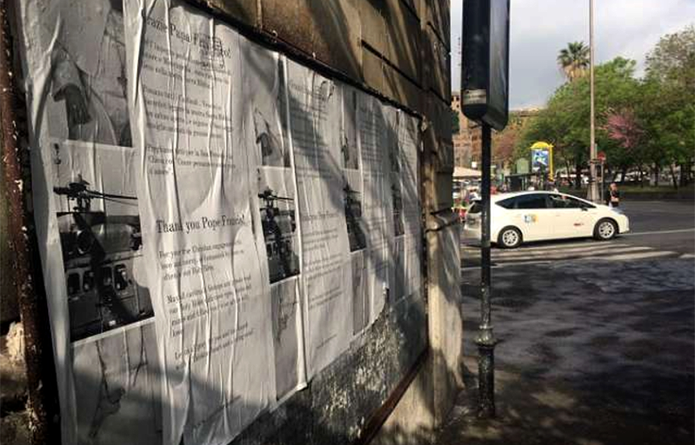 Pro-Francis posters go up in Rome, striking a different chord