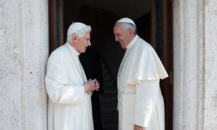 Why did Pope Francis visit Benedict XVI? To say happy birthday!
