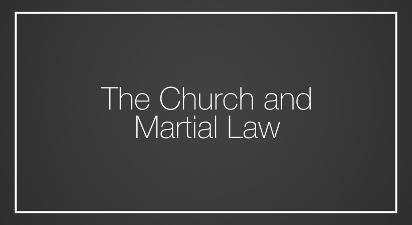 The Church and martial law