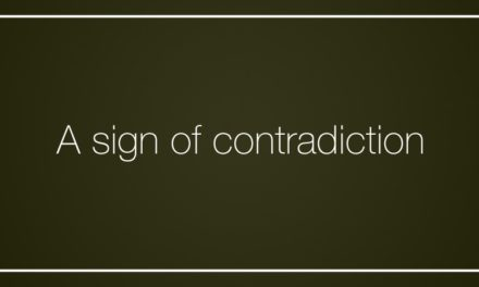 A sign of contradiction