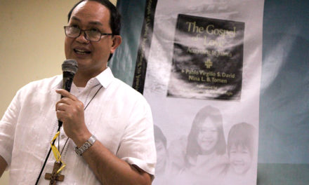 Bishop David launches new book on 'The Gospel of Love'