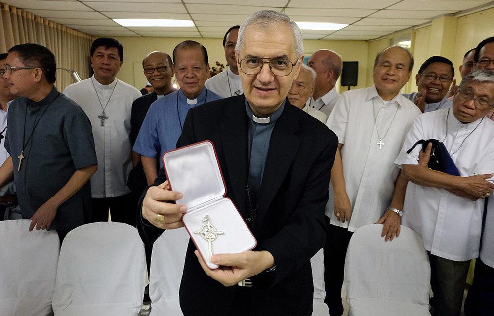 Nuncio praises Filipinos' faith amid disasters as he bid farewell