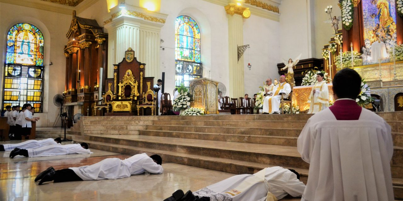 New priest, deacons told: 'Disregard personal interests'