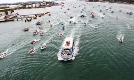 Fluvial procession starts feast of Our Lady of the Rule