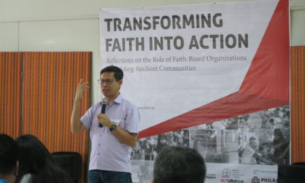 Faith-based groups' role in humanitarian response recognized