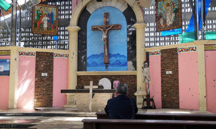Bishop visits Marawi cathedral for the first time since siege