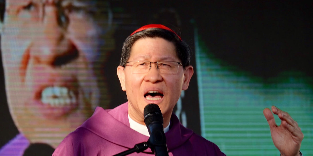 Cardinal Tagle: Bring back 'every life is a gift' mentality