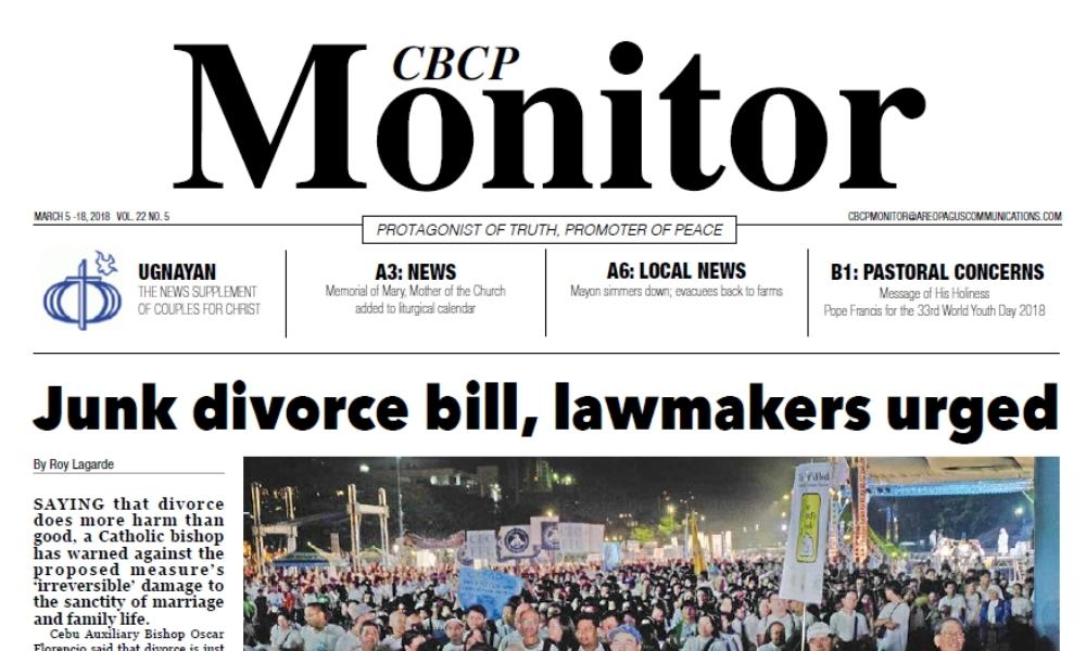 CBCP Monitor Vol 22 No 5