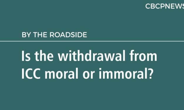 Is the withdrawal from ICC moral or immoral?