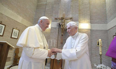 Benedict XVI says there is 'interior continuity' between himself and Pope Francis