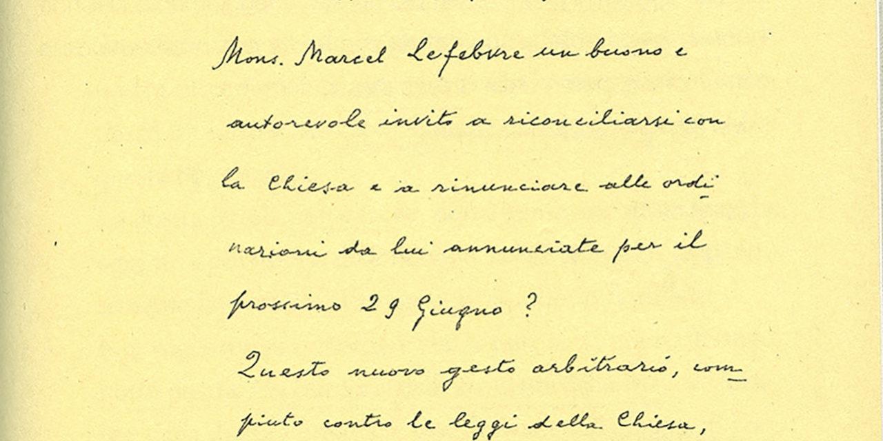 Paul VI accused Archbishop Lefebvre of acting like an 'antipope'