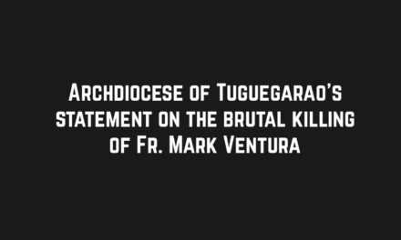 Archdiocese of Tuguegarao's statement on the brutal killing of Fr. Mark Ventura