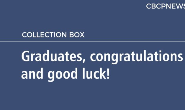Graduates, congratulations and good luck!