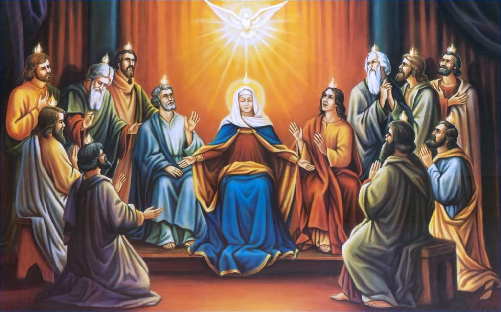 Pentecost:  the giving of new life to the Church