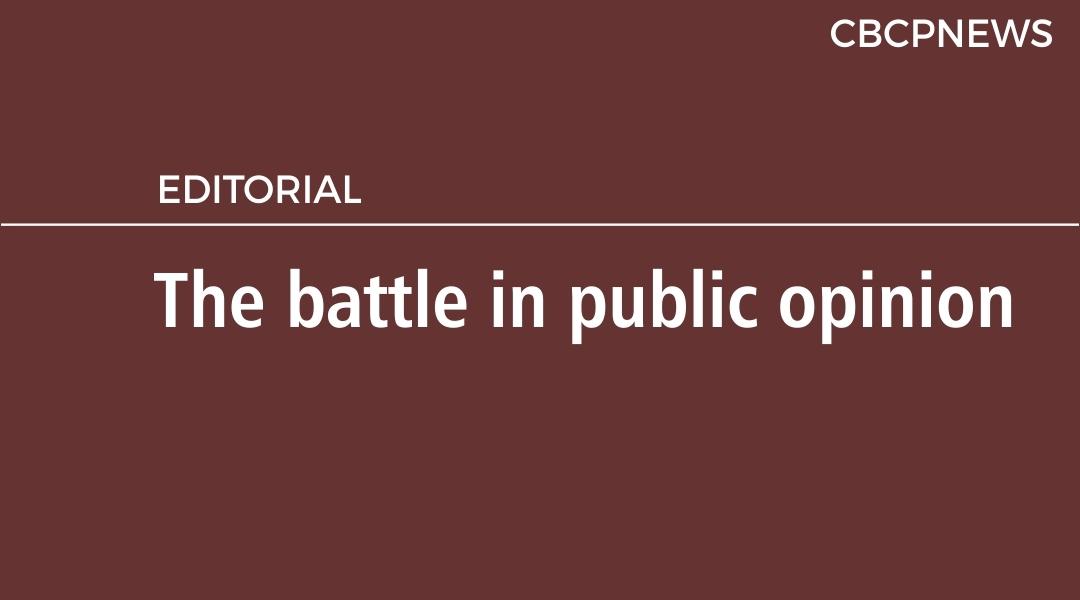 The battle in public opinion