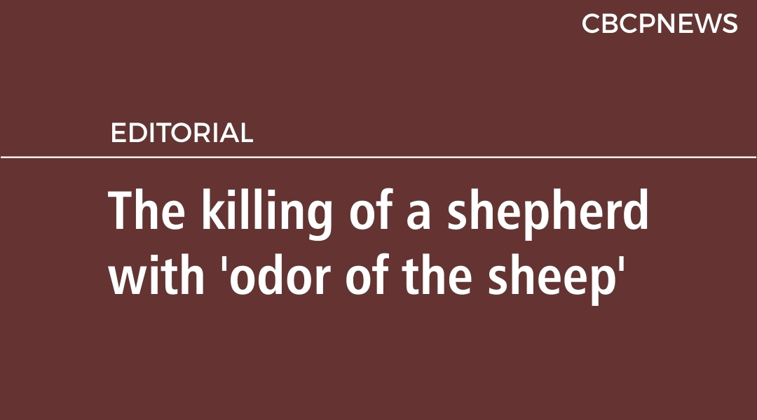 The killing of a shepherd with 'odor of the sheep'