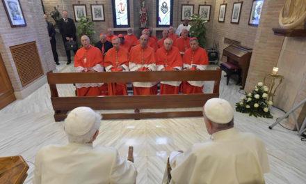Pope Francis and new Cardinals visit Benedict XVI