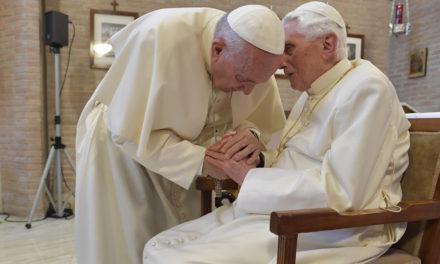 Pope Francis visits Pope Emeritus Benedict XVI