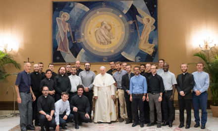 Pope Francis tells Jesuits in formation to help at-risk youth