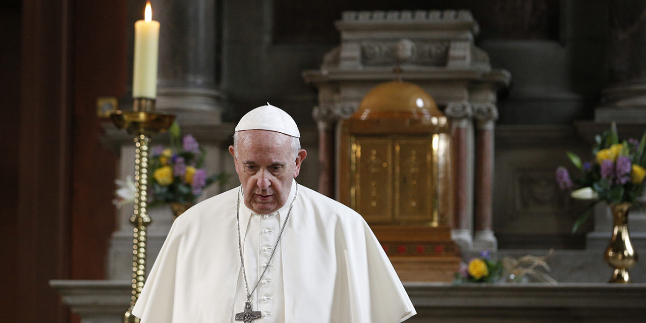 Silence is Christ's response to lies, divisiveness, pope says at Mass