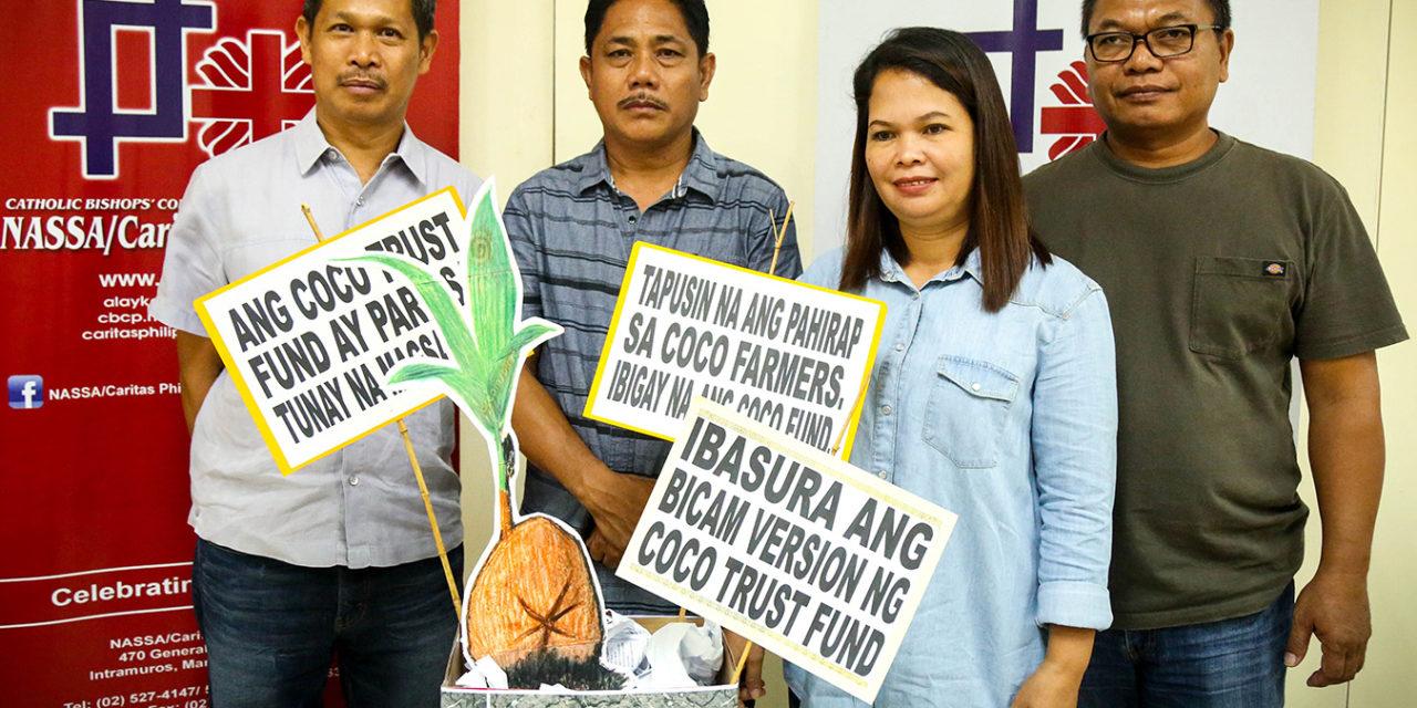 Caritas demands 'pro-farmer' version of Coco Trust Fund Law
