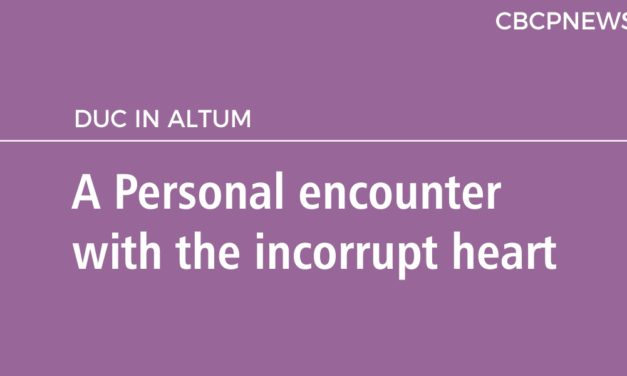 A Personal encounter with the incorrupt heart