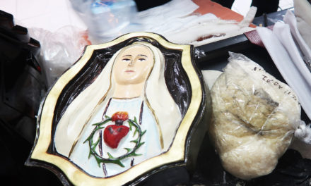 Illegal drugs found inside image of Virgin Mary