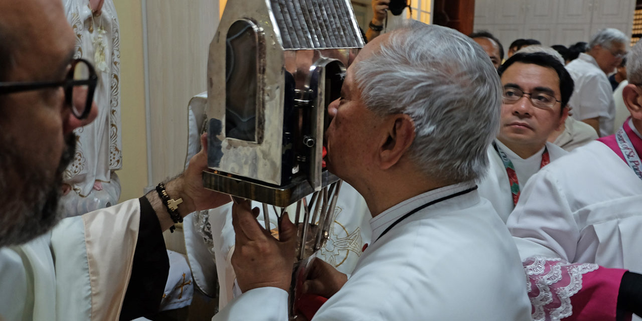 Cardinal urges Catholics to holiness at end of Padre Pio's heart visit