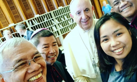 A 'selfie' with Pope Francis