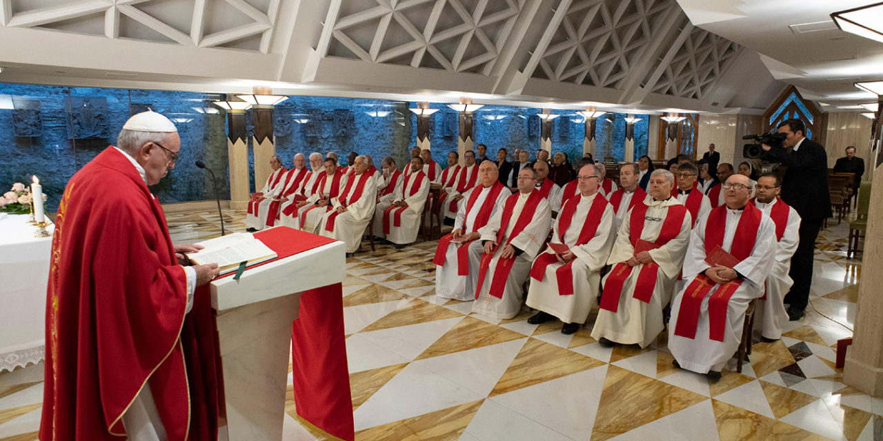 Bishops must be blameless servants, not princes, pope says