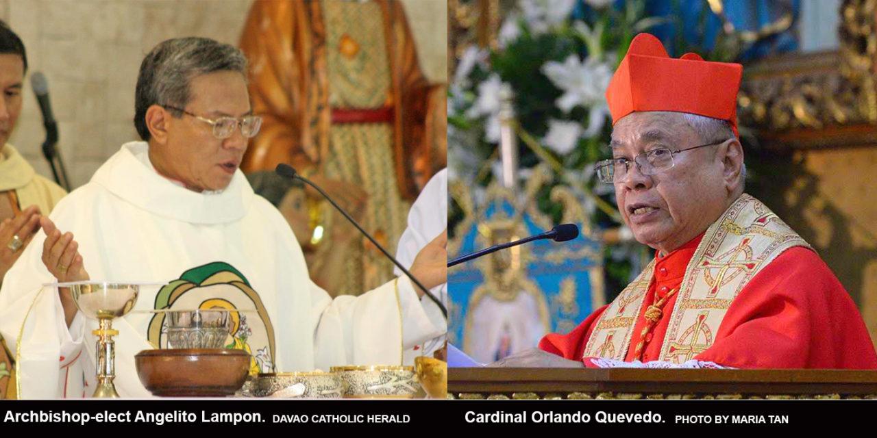 Pope accepts resignation of Cardinal Quevedo of Cotabato; names Bishop Lampon as successor