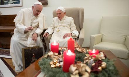Pope Francis visits retired pontiff