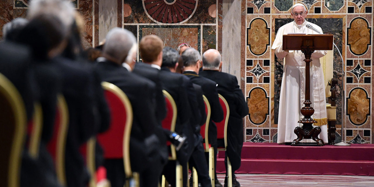 'Nationalistic tendencies' threaten world peace, pope tells diplomats