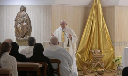Christian faith is concrete, pope says at Mass