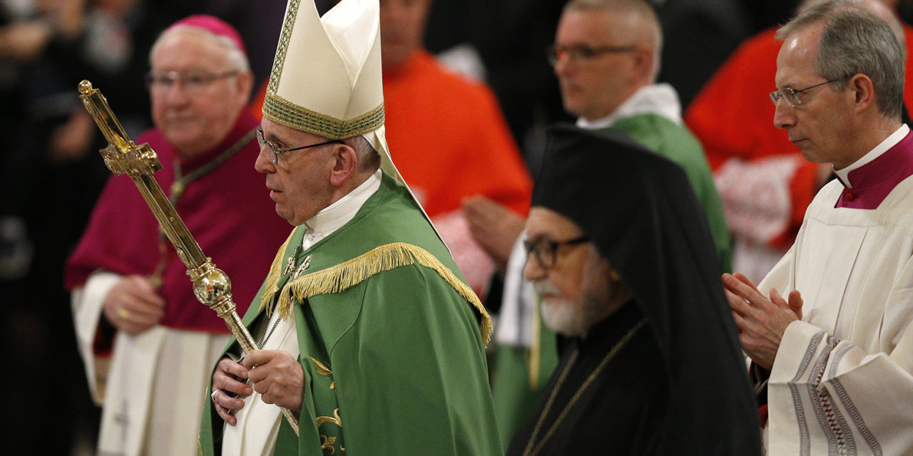 Pope says it's 'grave sin' to deny God has blessed other Christians
