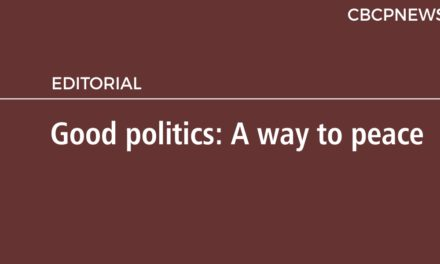 Good politics: A way to peace