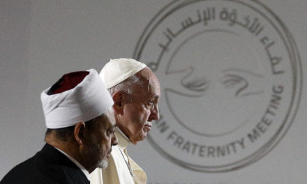 True belief leads to respect, peace, pope says at interreligious meeting