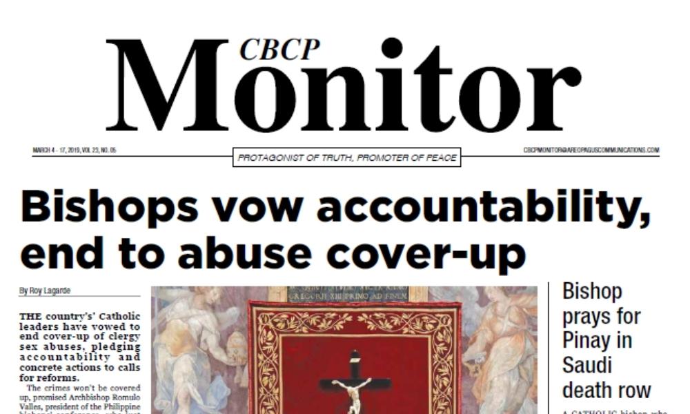 CBCP Monitor Vol 23 No 5