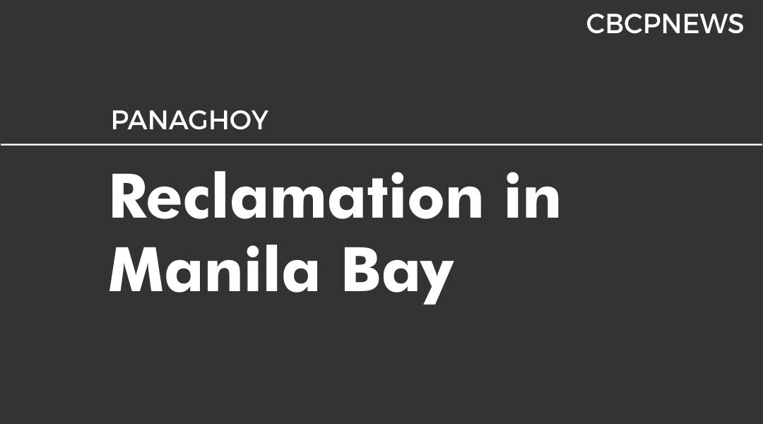 Reclamation in Manila Bay