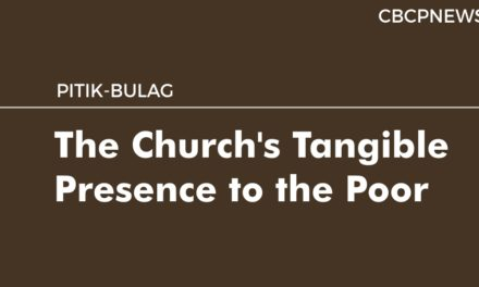 The Church's Tangible Presence to the Poor
