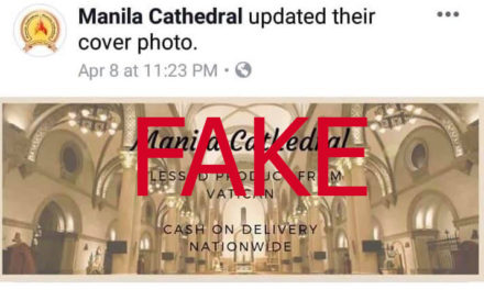 Manila Cathedral warns vs fake FB   page selling 'miraculous medals'