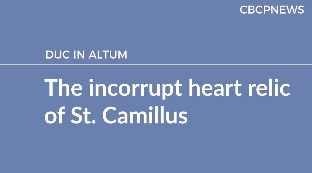 The incorrupt heart relic of St. Camillus