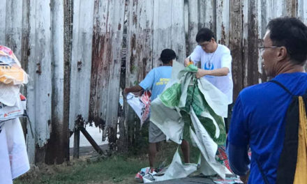Bohol dioceses lead clean up of campaign trash