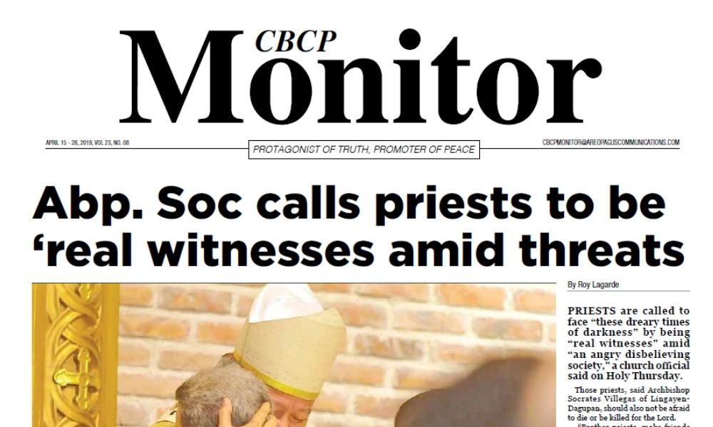 CBCP Monitor Vol 23 No 8