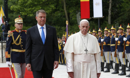 Pope urges Romanian leaders to care for country's poor, disadvantaged