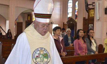 Bring tree seedlings instead of flowers at Bishop Cenzon's wake, visitors urged
