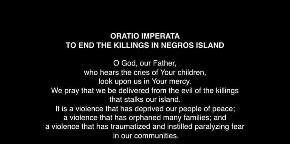 Negros bishops hit 'cycle of violence'; issue oratio imperata vs killings