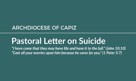 Pastoral Letter on Suicide