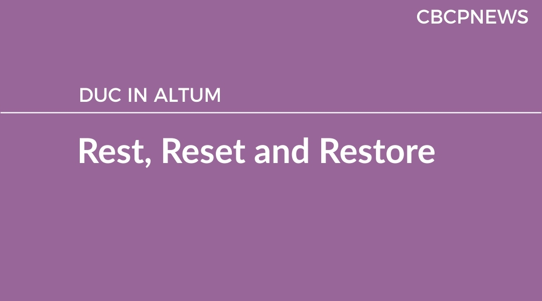 Rest, Reset and Restore