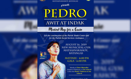St. Pedro Calungsod musical heading to Batangas